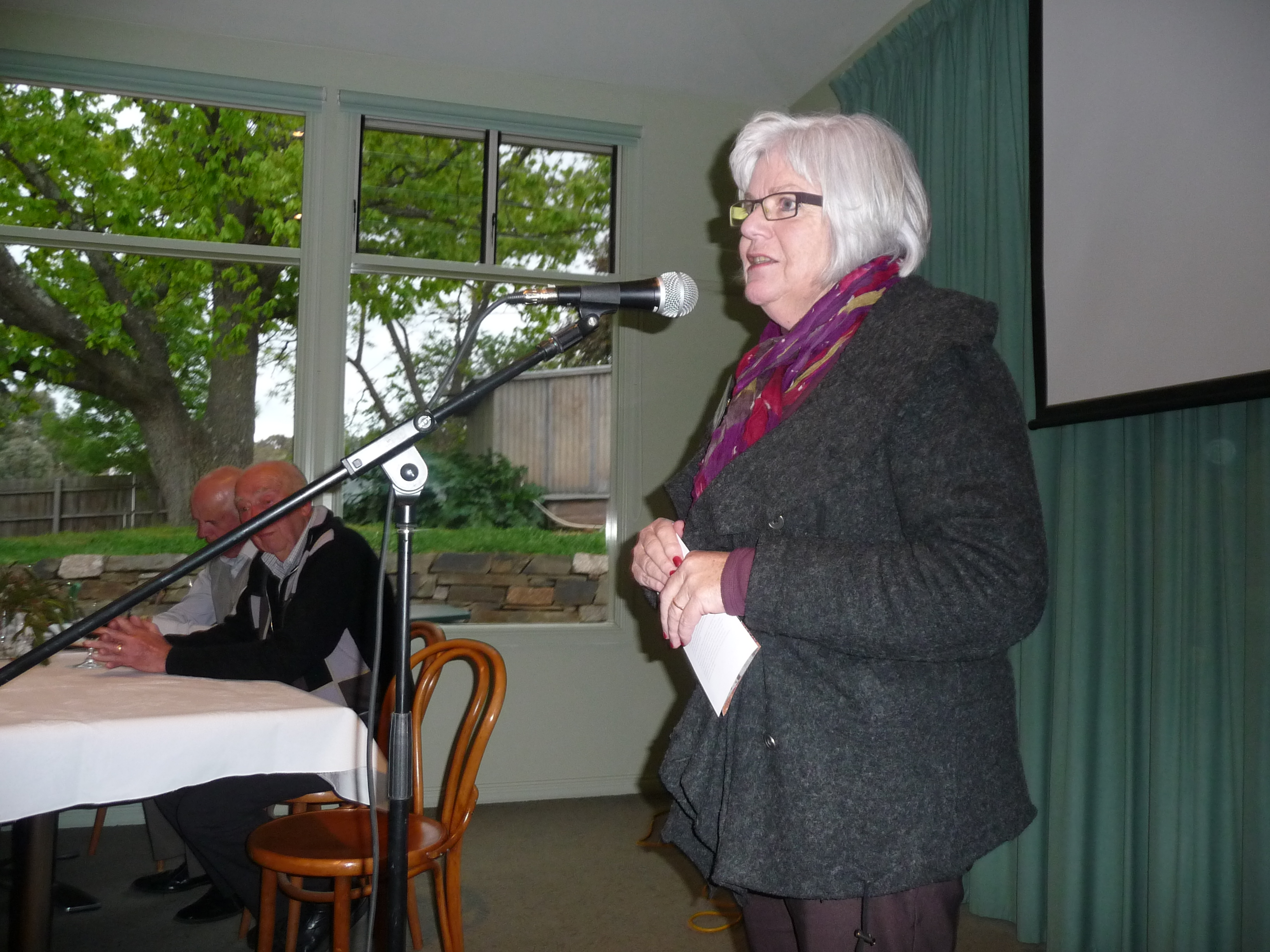 Dahl Trust Chair, Alison Teese, at the dinner
