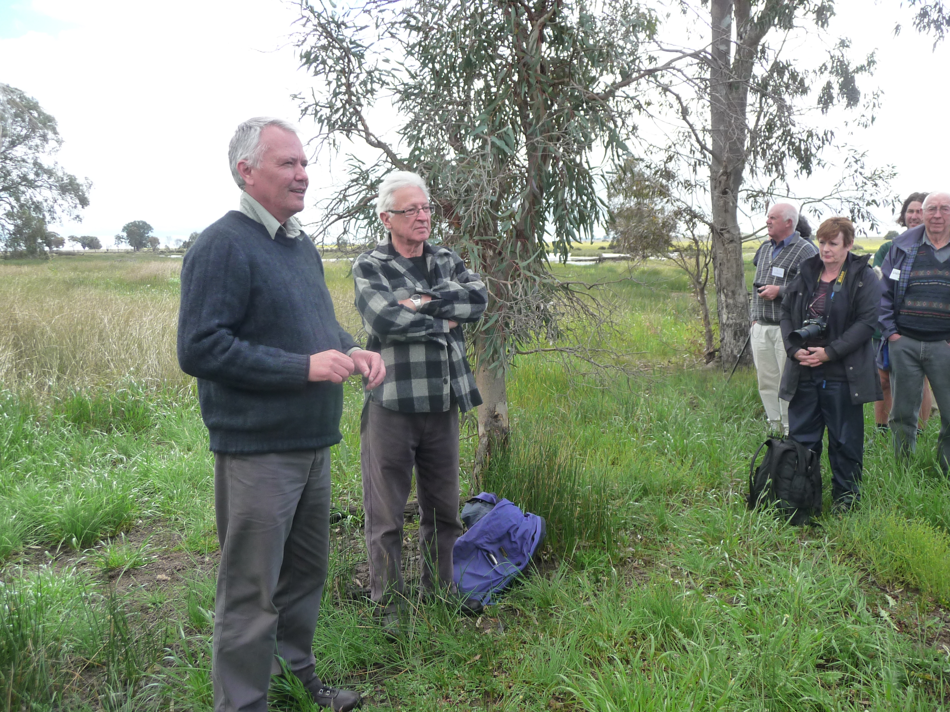 NWF Trustee Geoff Park with Raimond Gaita at Frogmore Swamp